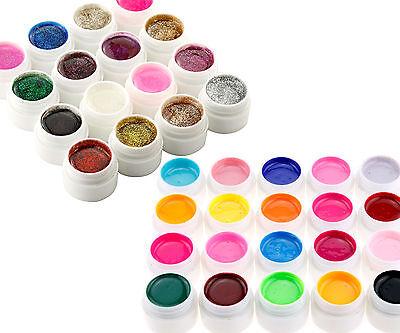 36 Pots x Mix Color Nail Art Nail Builder UV Gel Nail Tips DIY Design Set