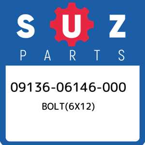 09136-06146-000-Suzuki-Bolt-6x12-0913606146000-New-Genuine-OEM-Part