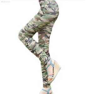 D2DA Fashion Damen Tarnfarbe Leggings Hose Army Leggins Camouflage Treggings