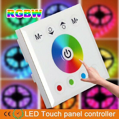 NEW RGBW Full Color Dimmer Touch Panel Controller For RGB RGBW LED Strip 12-24V
