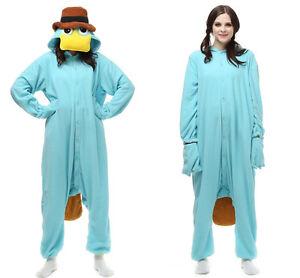 Platypus Unisex Adult Pajamas Kigurumi Cosplay Costume Animal Sleepwear Suit