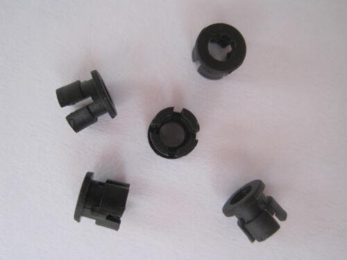 100pcs 3mm Black Plastic LED Bezel Clip Holder Cup Mounting Holders Push Fit