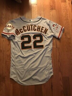2018 GIANTS PIRATES ANDREW MCCUTCHEN GAME USED WORN MOTHER'S DAY JERSEY W/HOLO   eBay