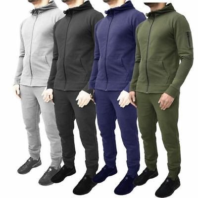 Fabrica Fashion Designer Tracksuit Skinny fit Stretch Body fit Zipped top and Joggers with Zipped Pockets