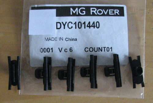 MG Rover 75 ZT Door Wing Side Rubbing Strip Securing Plastic Clips x 6 DYC101440