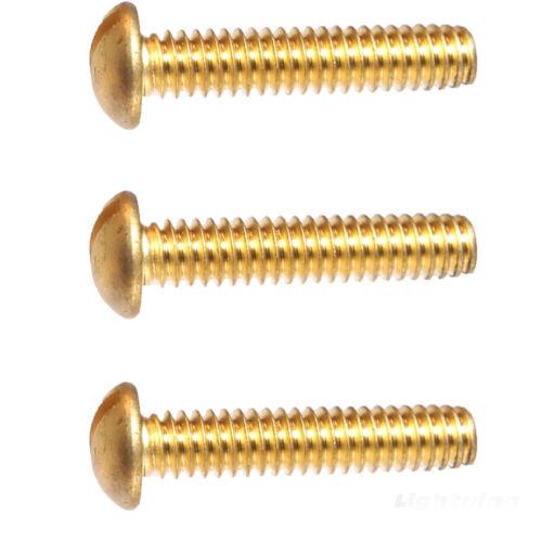 "8-32 x 5//8/"" Round Head Machine Screws Solid Brass Slotted Drive Qty 100"