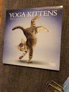 Yoga Kittens 2018 7 x 7 Inch Monthly Mini Wall Calendar