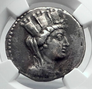ARADOS-PHOENICIA-Authentic-Ancient-92BC-Silver-Greek-Tetradrachm-Coin-NGC-i80951