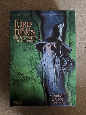 Sideshow Weta GANDALF THE GREY BUST Lord of the Rings LotR 1/4 Scale Polystone