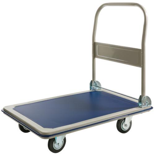Arebos carro de plataforma carro de transporte carro de mano carretilla de transporte carro 300 kg