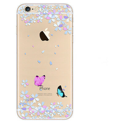 Rubber Pattern Soft TPU Silicone Back Case Cover for Apple iPhone 5 6 6s Plus SE