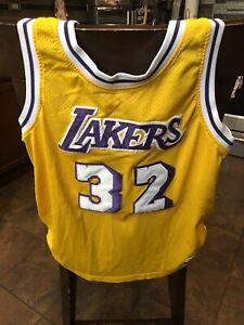 NBA Hardwood Classics VINTAGE Lakers #32 MAGIC JOHNSON JERSEY 1979 ...