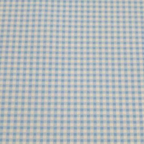 Mini Check Gingham 100/% Cotton Poplin Fabric Pale Pink Pale Blue /& Navy Blue