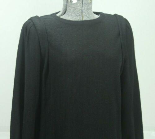Vintage 80s Goldworm Wool Sweater Dress Size 8 Bla