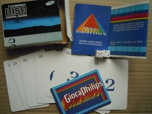 PHILIPS - CARTE PROMO GIOCA PHILIPS COMPACT DISC DIGITAL AUDIO, ITALY.RARE***** - Italia - PHILIPS - CARTE PROMO GIOCA PHILIPS COMPACT DISC DIGITAL AUDIO, ITALY.RARE***** - Italia