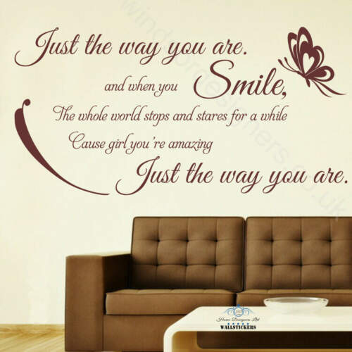 Bruno Mars Just the way you are wall sticker decal mural transfer