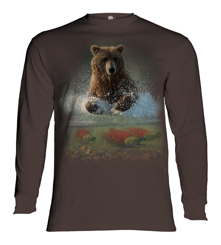 La MONTAGNA adulto adulto adulto LUCKY paesello Orso maniche lunghe T-shirt bacdd3