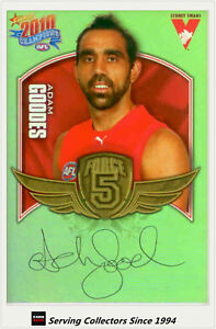 2010-Select-AFL-Champions-Force-5-Signature-Gold-FFS66-Adam-Goodes-Sydney