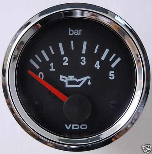 VDO Chrom Öldruckanzeige 5 bar