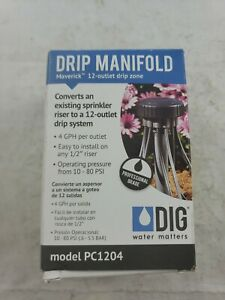 Dig Pc1204 Maverick 12 Outlet Retrofit Drip Manifold Kit With 1 2 Fpt Ebay