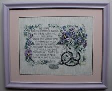 """Doctor Poem and Prayer """"As I Care For My Patients"""" Completed Cross Stitch Framed"""