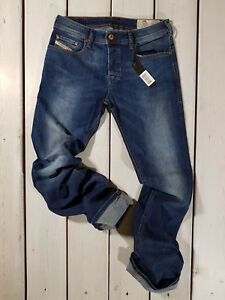 New-Diesel-Men-039-s-Jeans-Zatiny-0679I-Regular-Bootcut-Stretch-Blue-Christmas