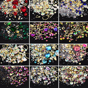 3D-Nail-Art-Ongle-Strass-Rivet-Resine-Glitter-Diamants-Cristal-Tips-Decor-Bijoux