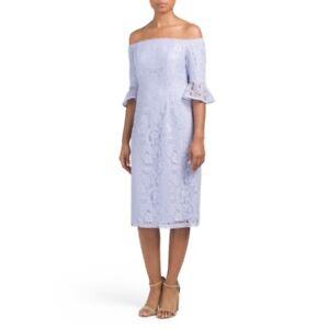 8f1cbfeda001 Image is loading Womens-Nanette-Lepore-Purple-Dress-Spring-Lace-Sheath-