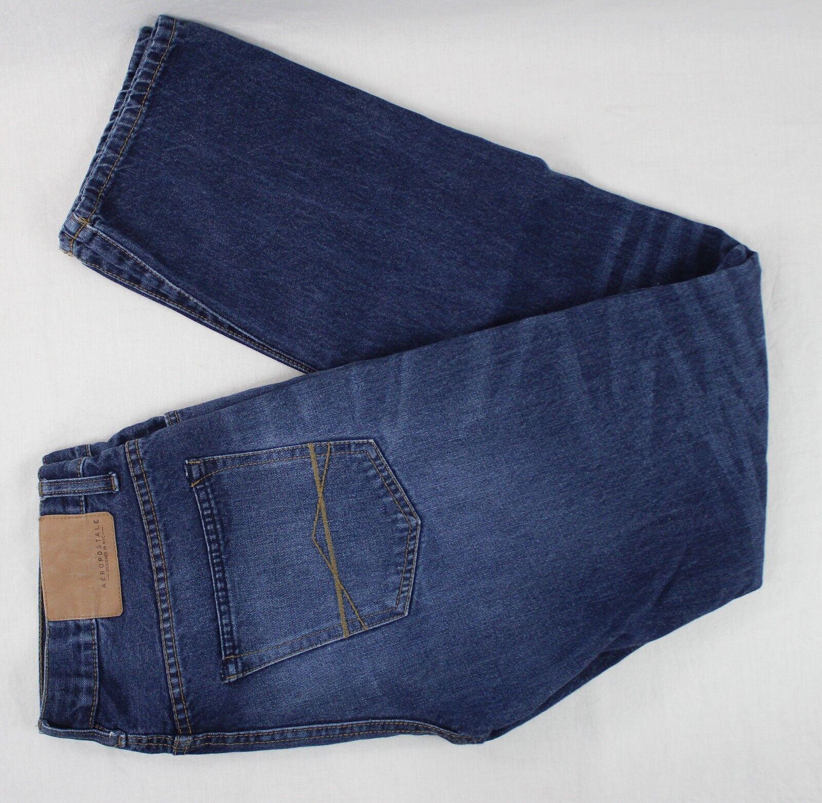Aéropostale Men's Jeans Slim Straight 100% Cotton 32X34 (Our measure W34xL32)
