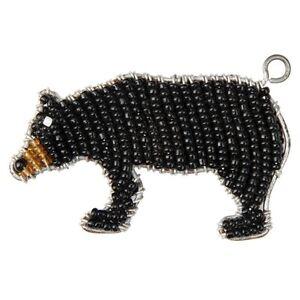 Belle Beadworx-ours Noir-perles Travail Trousseau Terrain Perles De Verre-afficher Le Titre D'origine AgréAble En ArrièRe-GoûT