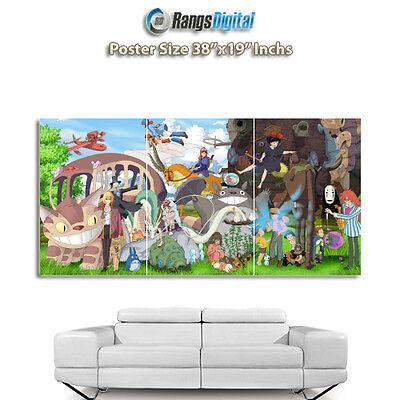 "Studio Ghibli Characters HD Photo Poster RD-9036 (38""x19"" Inches)"