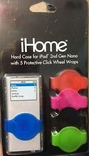 iHome Hard Case IPOD Nano 2nd Gen 5 Color Protect Wheel Wrap Accessory 2G NIB D8