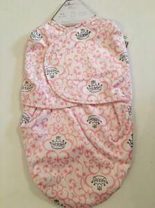 Sterling Baby Girl Swaddle Blanket Bag Sack Size 0-6 Months Pink Princess Damask