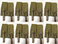 LOT OF 8 EAGLE INDUSTRIES DOUBLE M4 MAG LIGHTWEIGHT POUCH 2 MAGS PER PCH KHAKI