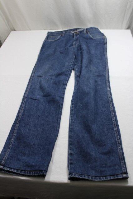 J7573 Wrangler Regular Fit bien Jeans w36 l36 bleu très bien Fit b87cc6