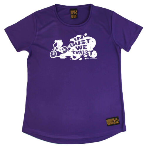 Cycling T-Shirt Funny Womens R Neck Sports Performance Tee In Dust We Trust