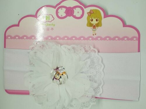 bandeau bébé fleur Disney élastique tête accessoire cheveux fille enfant mariage
