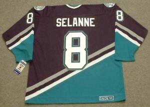 half off 3897f 53ef6 Details about TEEMU SELANNE Anaheim Mighty Ducks 1997 CCM Vintage Throwback  Away NHL Jersey