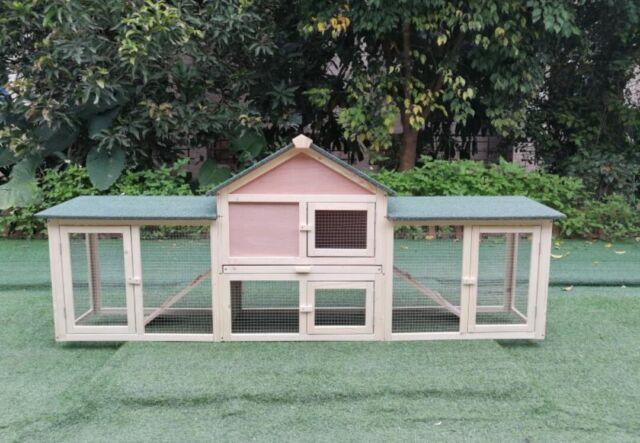 Multi Level Rabbit Hutch 2 Story View 5 Doors Pet House Shelter Weatherproof For Sale Online Ebay