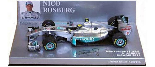 Minichamps Mercedes GP F1 Team Showcar 2011 - Nico Rosberg 1 43 Scale