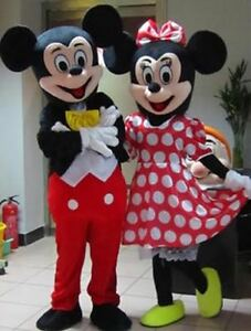 Image is loading Adult-Parade-Mickey-&-Minnie-Mouse-Costume-Mascot- & Adult Parade Mickey u0026 Minnie Mouse Costume Mascot Halloween Cosplay ...