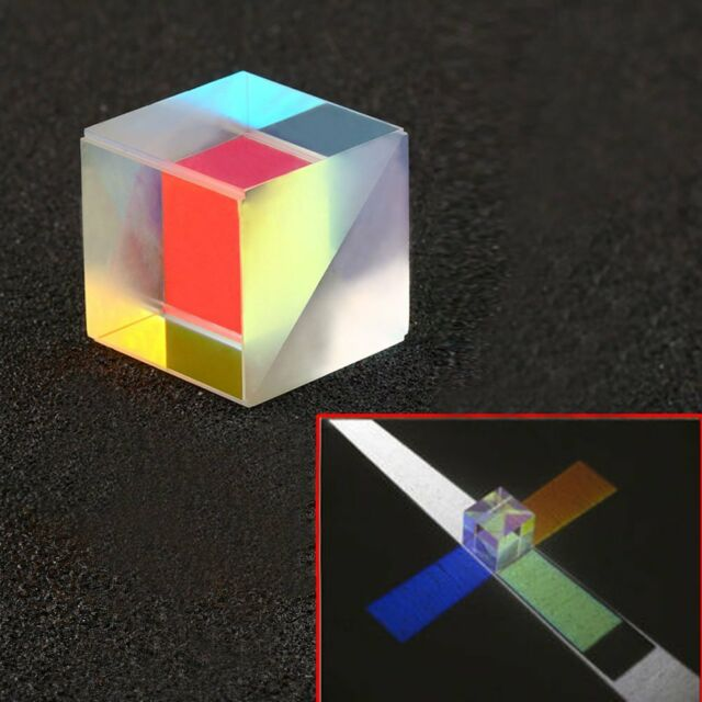 Galss Defective Optical RGB Prism X-CUBE for Physics Teach Decoration Art 2.2cm