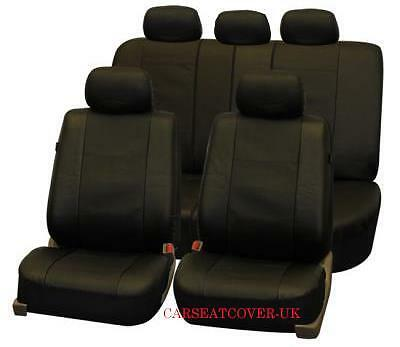 Luxury LEATHERETTE Car Seat Covers Protectors Full Set Proton Savvy