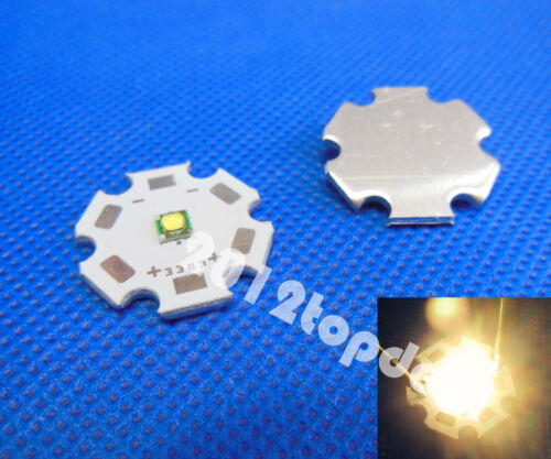 Cree XP-G XPG R5 5w Warm White 3000k LED Emitter chip With 20mm star Base