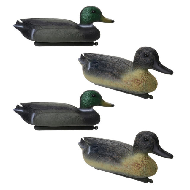 4 Plastic White Swan Decoy Floating Decoy with Floating Keel Hunting Fishing