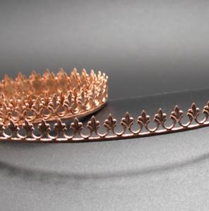 COPPER Gallery Bezel Wire Ribbon 99.9/% Pure 8.6mm x 0.6mm 1-5 Feet Ring /& Fleur