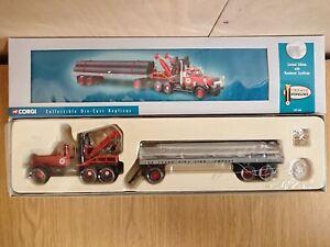 Corgi-55610-Diamond-T980-Wrecker-amp-Trailer-with-Pipes-Ltd-Ed-No-0002-of-4000