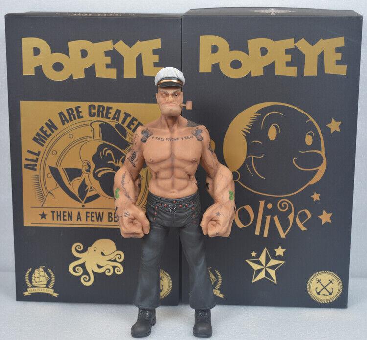 1 6 Popeye el marino HeadJugar 12  Hombre De Resina Estatua Figura del Tatuaje del Cuerpo Caja de Color