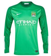 2013-14 Nike Manchester City FC Portiere Jersey Taglia XL (Adulti)