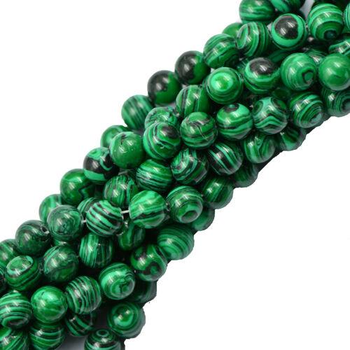 Grün Malachit Runden Edelstein Perlen Schmuck DIY Herstellung Strang 15 Zoll